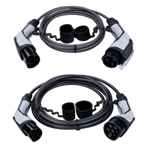 Ladekabel für Ladestationen in zwei verschiedenen Varianten und unterschiedlichen Längen