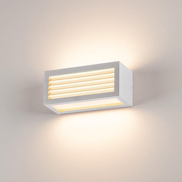 zweiflammige Wandleuchte weiß Licht