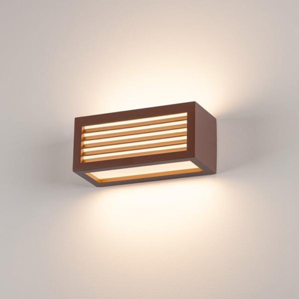 zweiflammige Wandleuchte braun Licht
