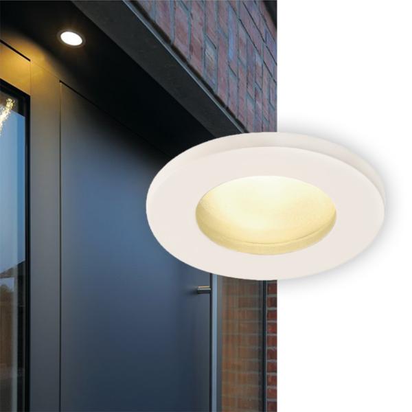 moderner Einbauring für den Außenbereich in Silber und in Weiß