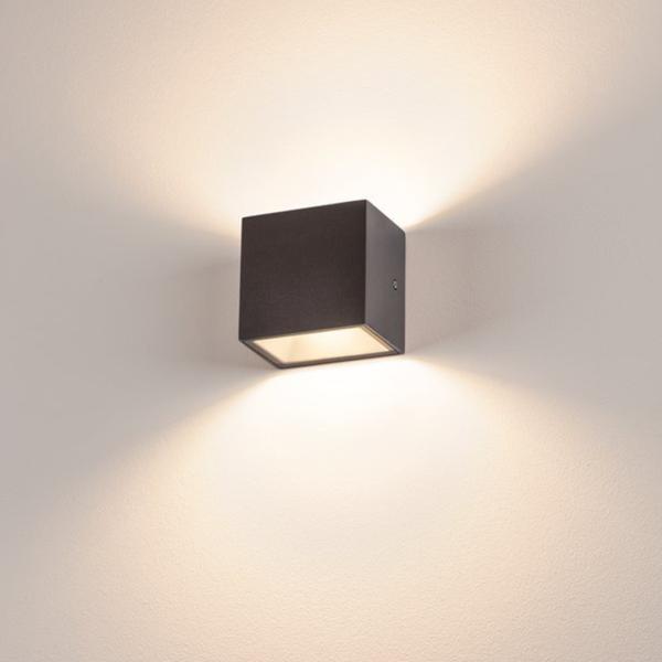 Wandbeleuchtung mit zwei Lichtkegel für den Außenbereich