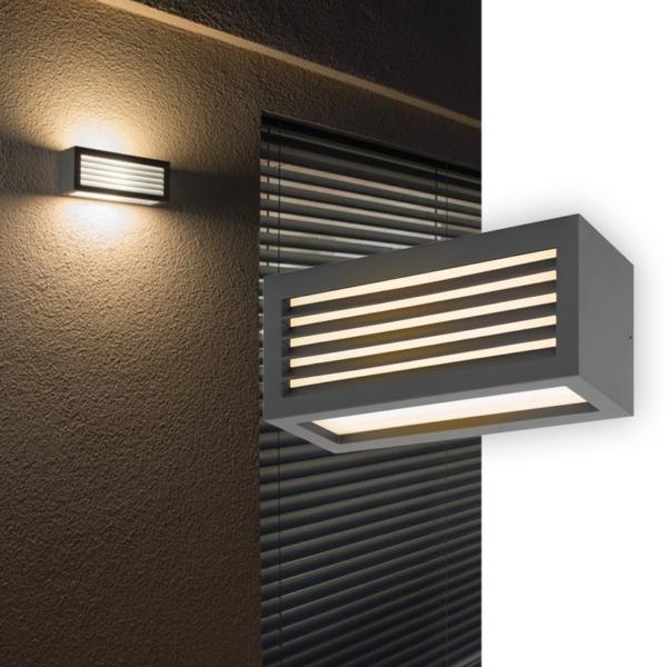 Wandleuchte für den Außenbereich mit Lichtschlitzen