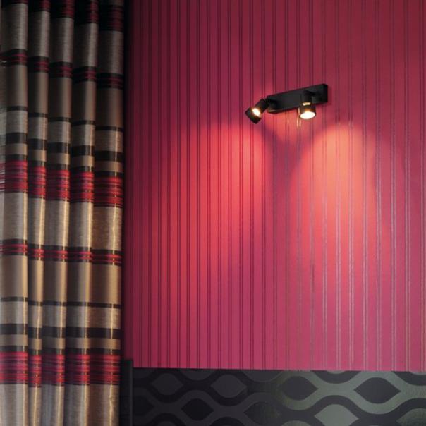 moderne Wand- und Deckenleuchte in schwarz für den Innenbereich
