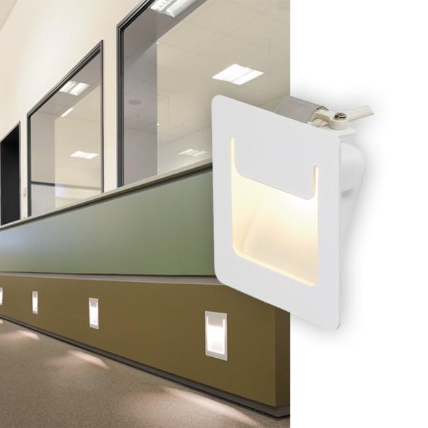 klassische Wandeinbauleuchte in weiß für den Innenbereich