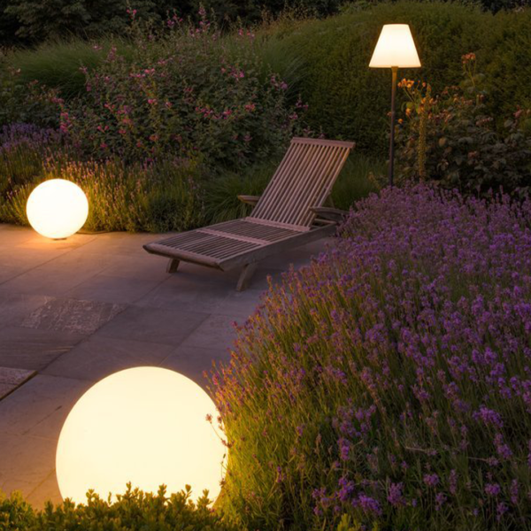 Außenbeleuchtung rund für den Garten oder Balkon