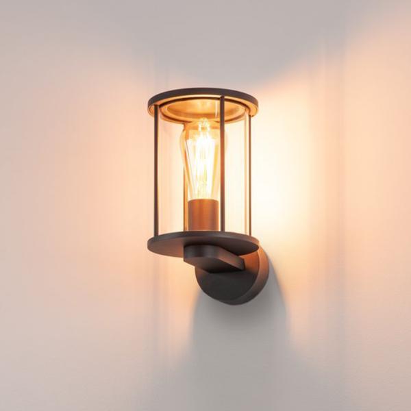 moderne Wandleuchte für den Außenbereich warmes Licht