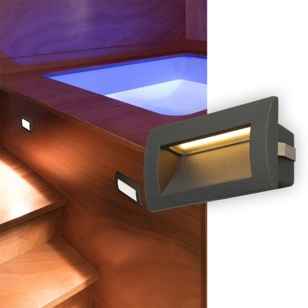moderne Wandeinbauleuchte mit inkludierten LEDs