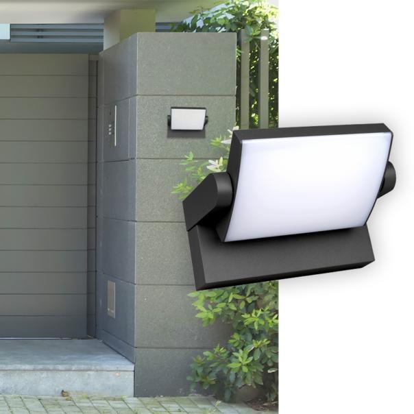 moderne Wandleuchte für den Außenbereich mit großer Lichtausgabe