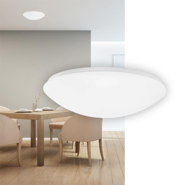 runde Wand und Deckenleuchte in opaler Form