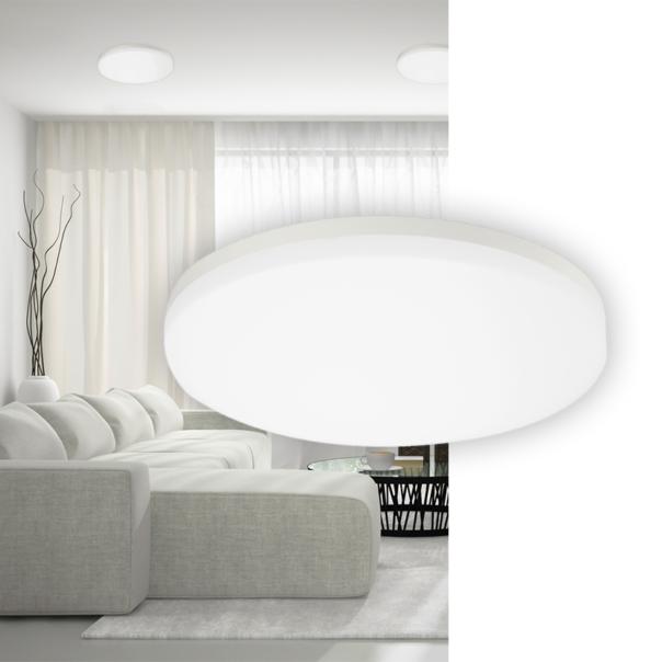 moderne Wand und Deckenleuchte für den Innenbereich in weiß oder silber
