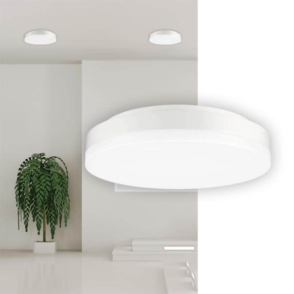 runde weiße Wand und Deckenleuchte für den Innenbereich