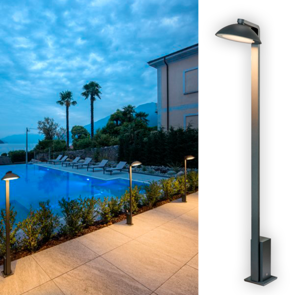 exklusive LED Outdoor Stehleuchte