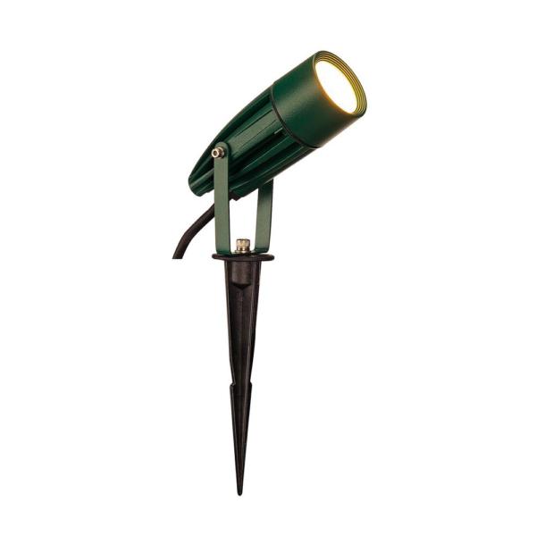 exklusiver LED Strahler Erdspieß grün