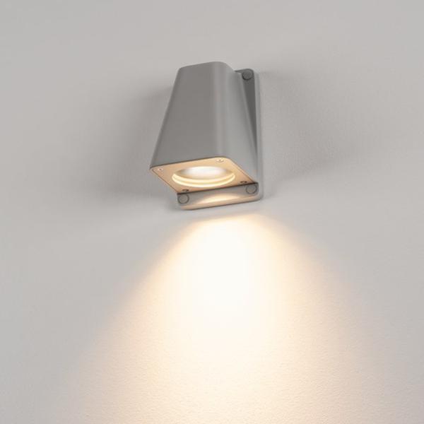 klassische Wandleuchte grau Licht