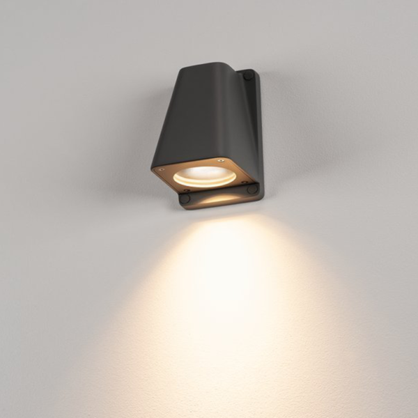 klassische Wandleuchte Licht anthrazit